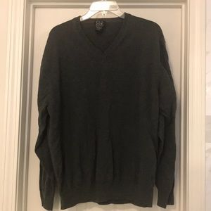 Jos A Banks cotton sweater in gray size XXL
